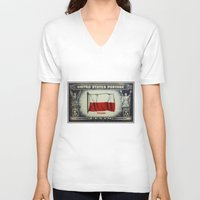 poland V-neck T-shirts featuring Flag of Poland by lanjee