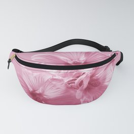 Pink Mallow Flowers Photo to Paint in Pink Fanny Pack