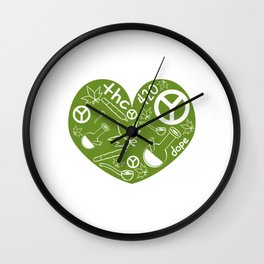 """A Nice Cannabis Tee For High Persons """"The 420"""" T-shirt Design Dope Peace Pot Cigarette Pipe Plants Wall Clock"""