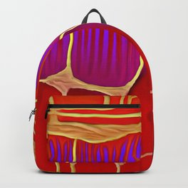 Distant Trees in Violet and Vermillion Backpack