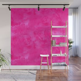 Neon pink watercolor modern bright background Wall Mural