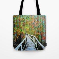 Walkway  in the woods  Tote Bag
