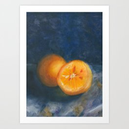 One and a Half Oranges Art Print