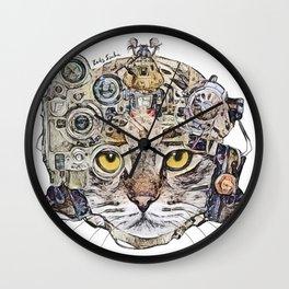 Sci Fi Cat Wall Clock