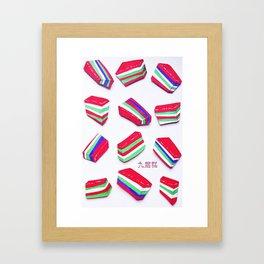 Rainbow Kueh Lapis Framed Art Print