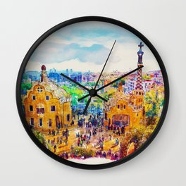 Park Guell Barcelona Wall Clock