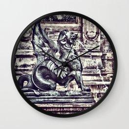 PARIS - Latin Quarter: Place St-Michel - La Fontaine St. Michel Wall Clock