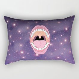 Wide Opened Mouth in Universe Rectangular Pillow