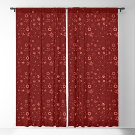 Memphis style abstract in red tone Blackout Curtain