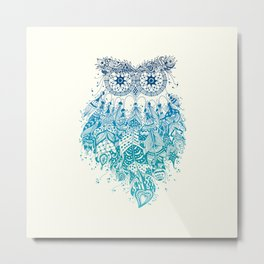 Blue Dream Catcher Metal Print