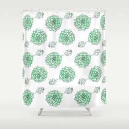 PATTERN II Succulent Life Shower Curtain