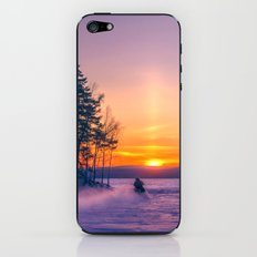 The snow mobile race toward the Sun pillar iPhone & iPod Skin