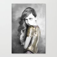 alice x zhang Canvas Prints featuring Alice by Elena Mir