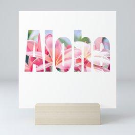 Aloha white Mini Art Print