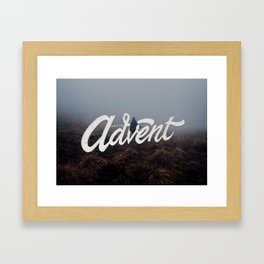Waiting Advent Framed Art Print