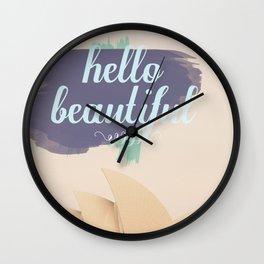 Hello Beautiful (Sydney) Wall Clock