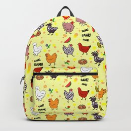 Cute seamless chickens pattern cartoon Backpack