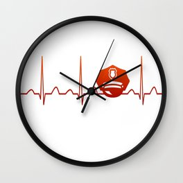 POLICE OFFICER HEARTBEAT Wall Clock