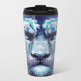 Snow Leopard Late Night Metal Travel Mug