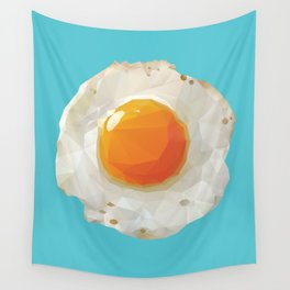 Fried Egg Polygon Art Wall Tapestry