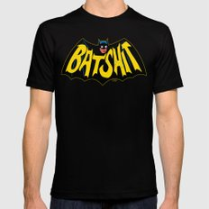 BATSHIT MEDIUM Black Mens Fitted Tee
