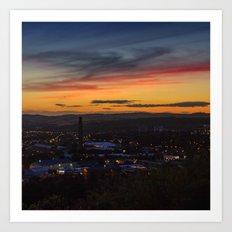 City of Dundee Sunset Art Print