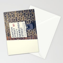 London street sign Stationery Cards