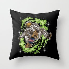 Skater Astronaut | Galaxy Universe Skateboard Throw Pillow