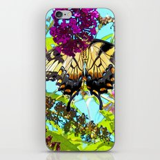Yellow Butterfly Transparent in the Sun iPhone & iPod Skin
