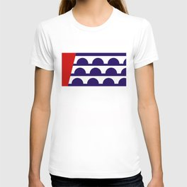 Des Moines city flag united states of america Iowa T-shirt