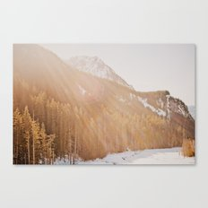 Sun Shining through the Mountains Canvas Print
