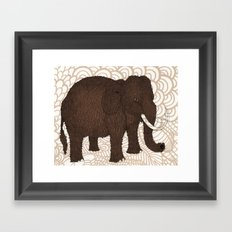 Brown Woolly Mammoth Framed Art Print