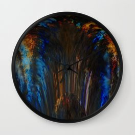 Waterfall of colors Wall Clock