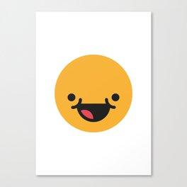 Emojis: Happy Canvas Print