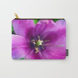 467 - Open Purple Tulip Carry-All Pouch
