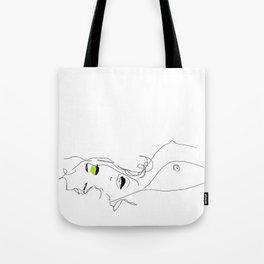 les yeux chartreux Tote Bag