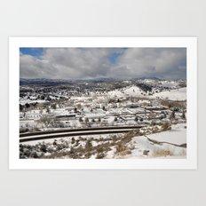Prescott view in the winter Art Print