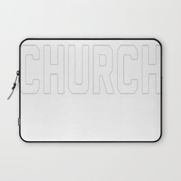 BASEBALL CHURCH T-SHIRT Laptop Sleeve