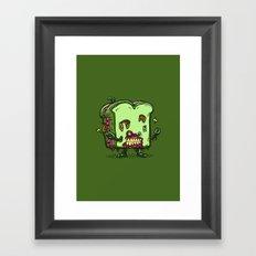 Zombie Sandwich Bot Framed Art Print