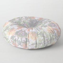 Wildflowers Square Mandala - All over Print Floor Pillow
