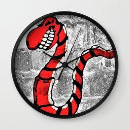 Mr. Worm Graffiti Wall Clock