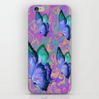 butterflies iPhone & iPod Skins featuring butterflies by Shea33