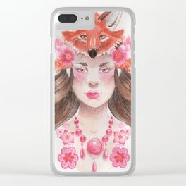 Jex Foxtrot Clear iPhone Case