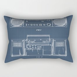 Boombox blueprints Rectangular Pillow