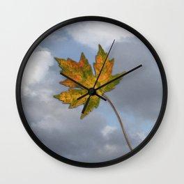 Maple leaf in autumn Wall Clock