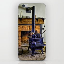 Wood Stove (Painted) iPhone Skin