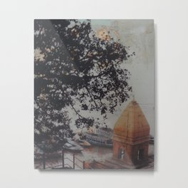 Temple by the Ganges Metal Print