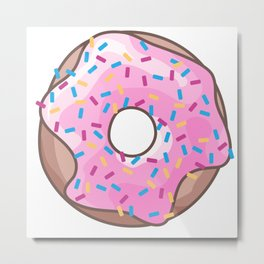 Pink Strawberry Donut Metal Print