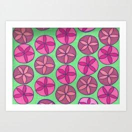 Preppy Spring Pink Flower Print Art Print