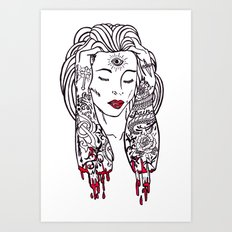 Queen of disaster Art Print
